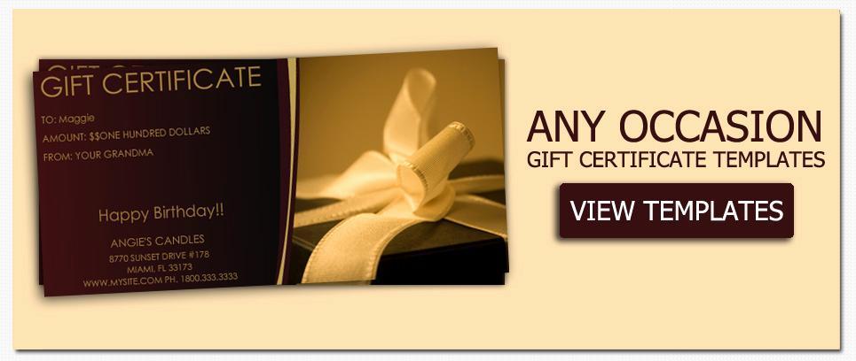 Custom Gift Certificate Template