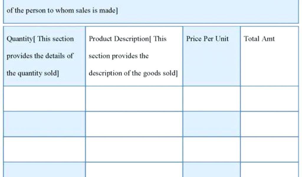 Custom Invoice Format India