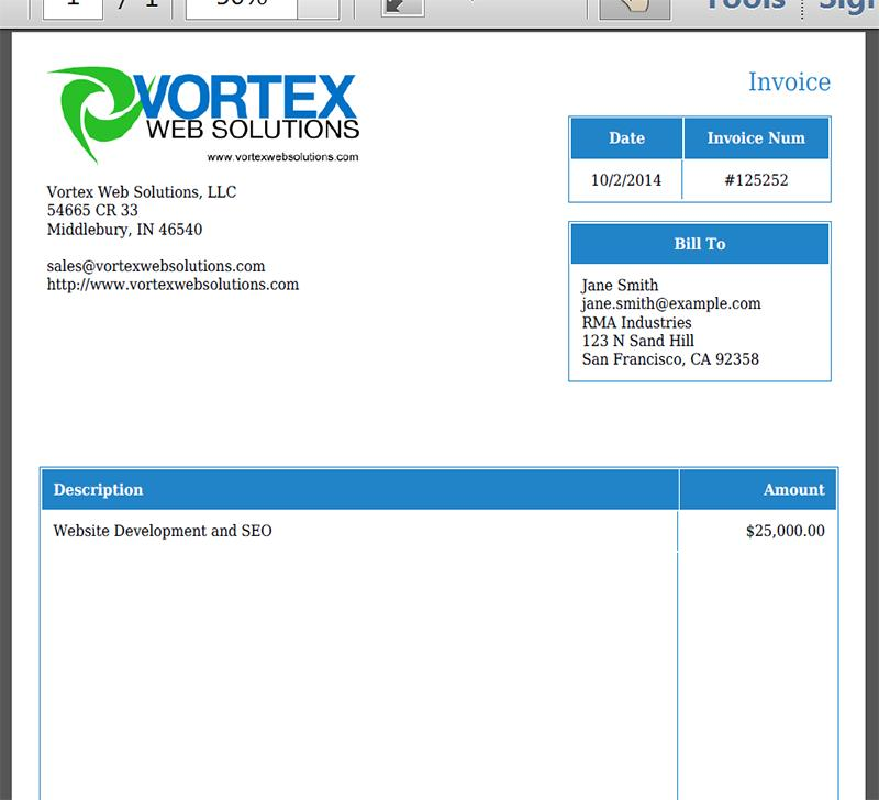 Custom Invoice Template Quickbooks