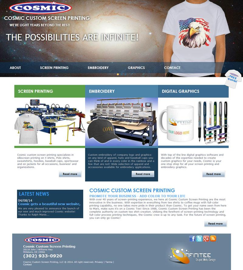 Custom Shirt Website Template