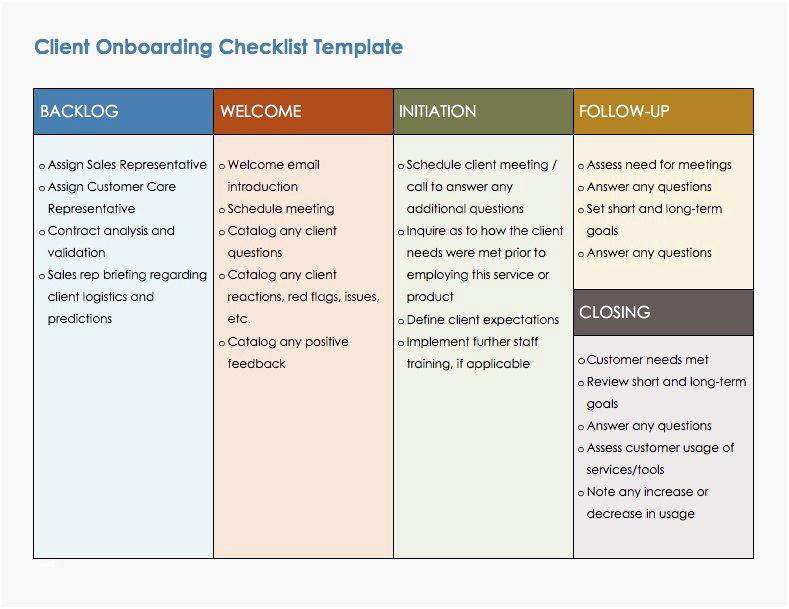 Customer Onboarding Checklist Template