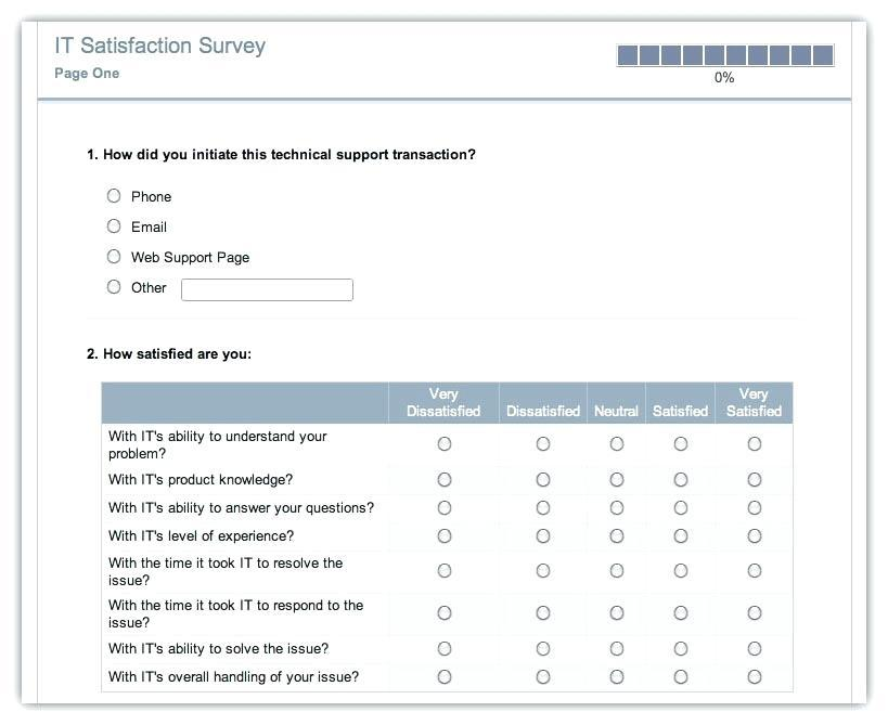 Customer Satisfaction Questionnaire Template Excel