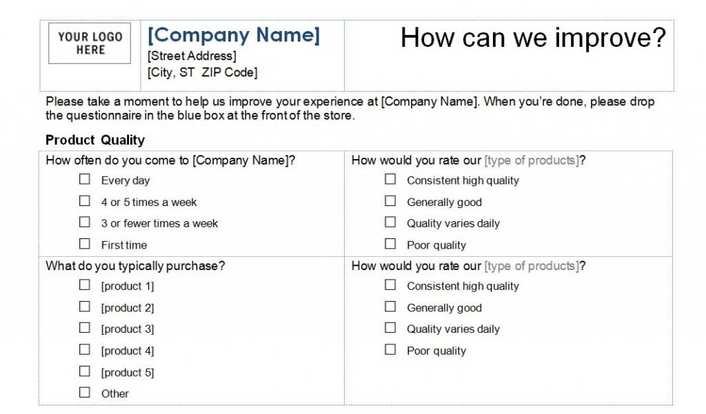 Customer Satisfaction Survey Template Download
