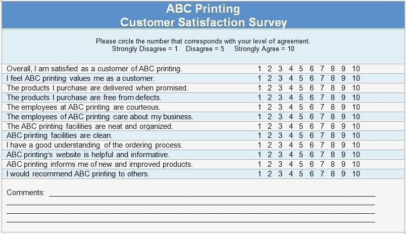 Customer Satisfaction Survey Template For Training