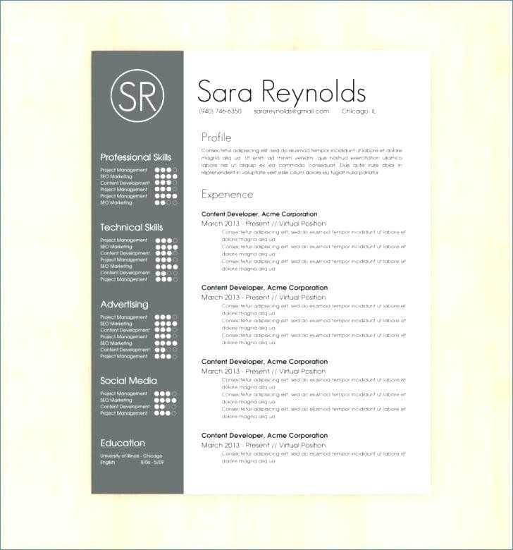 Customer Service Resume Template 2017