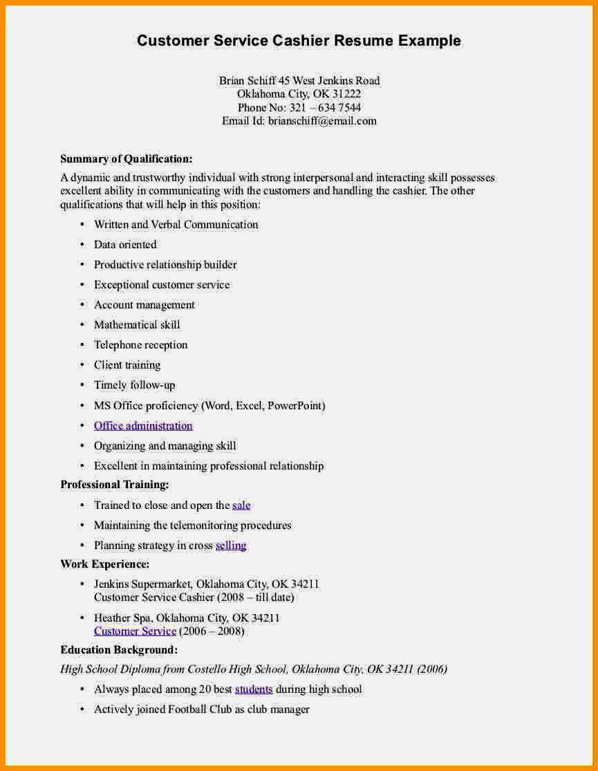 Customer Service Resume Templates Downloadable
