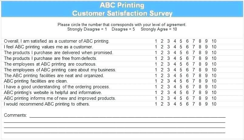 Customer Service Satisfaction Survey Questions Template