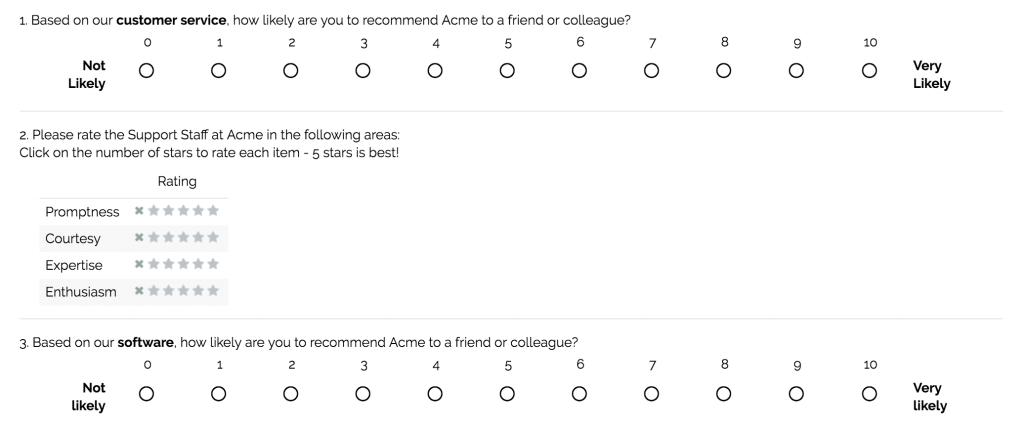 Customer Survey Questionnaire