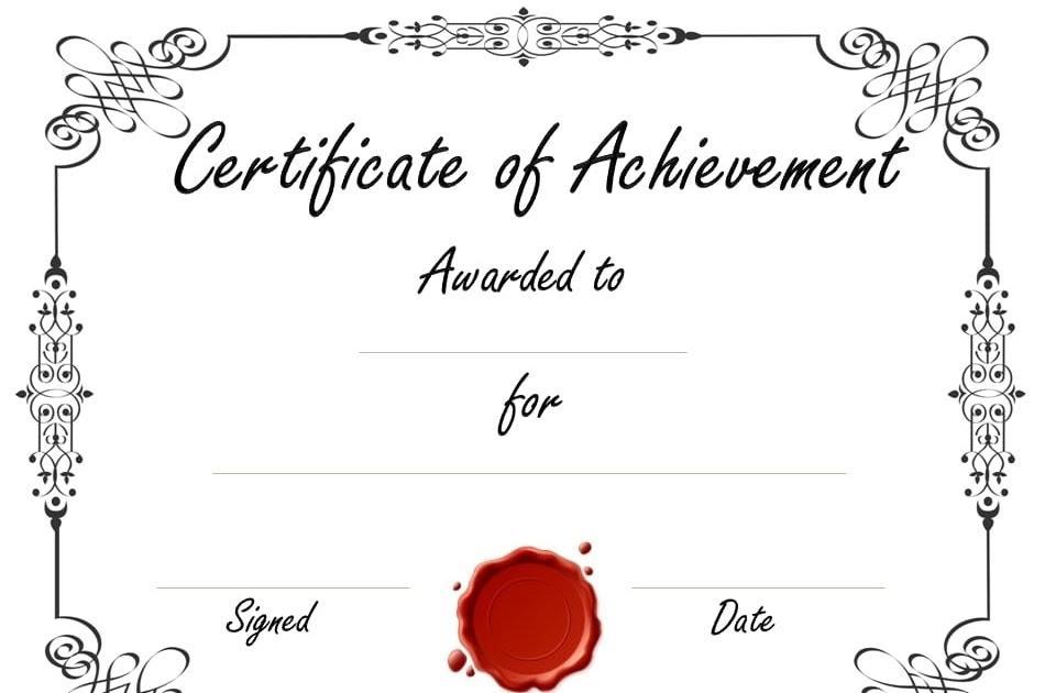 Customizable Certificate Templates Free