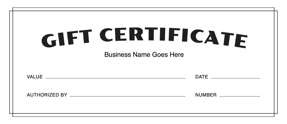 Customizable Gift Certificate Templates