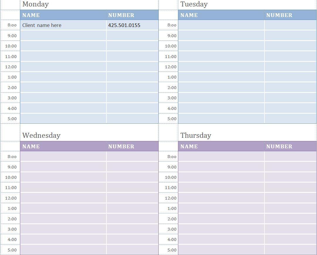 Customize Excel Calendar Template