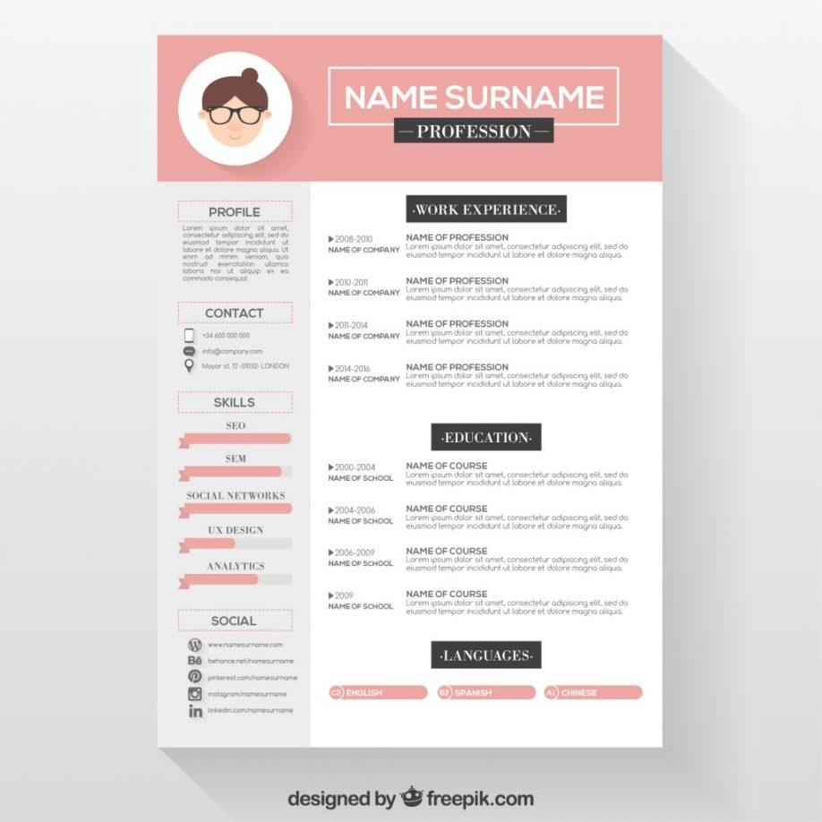 Cv Infographic Template Download