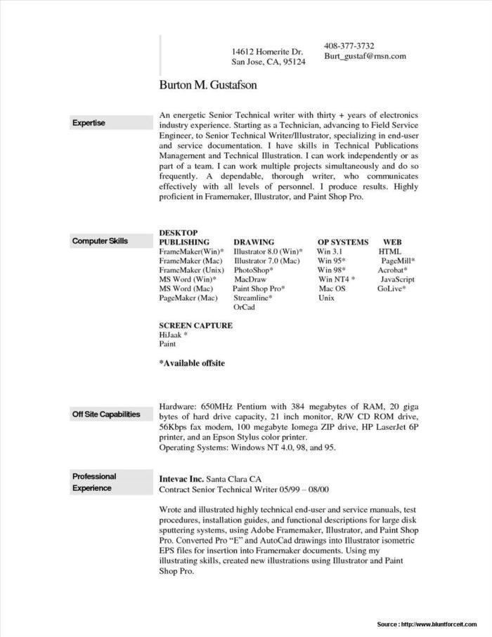 Cv Template For Macbook