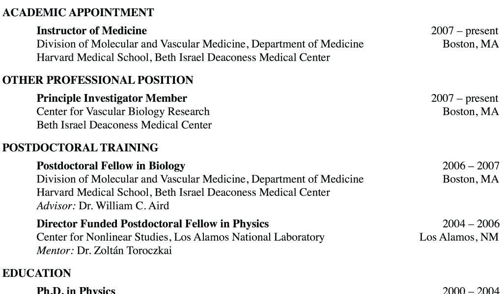 Cv Template For Medical School Application