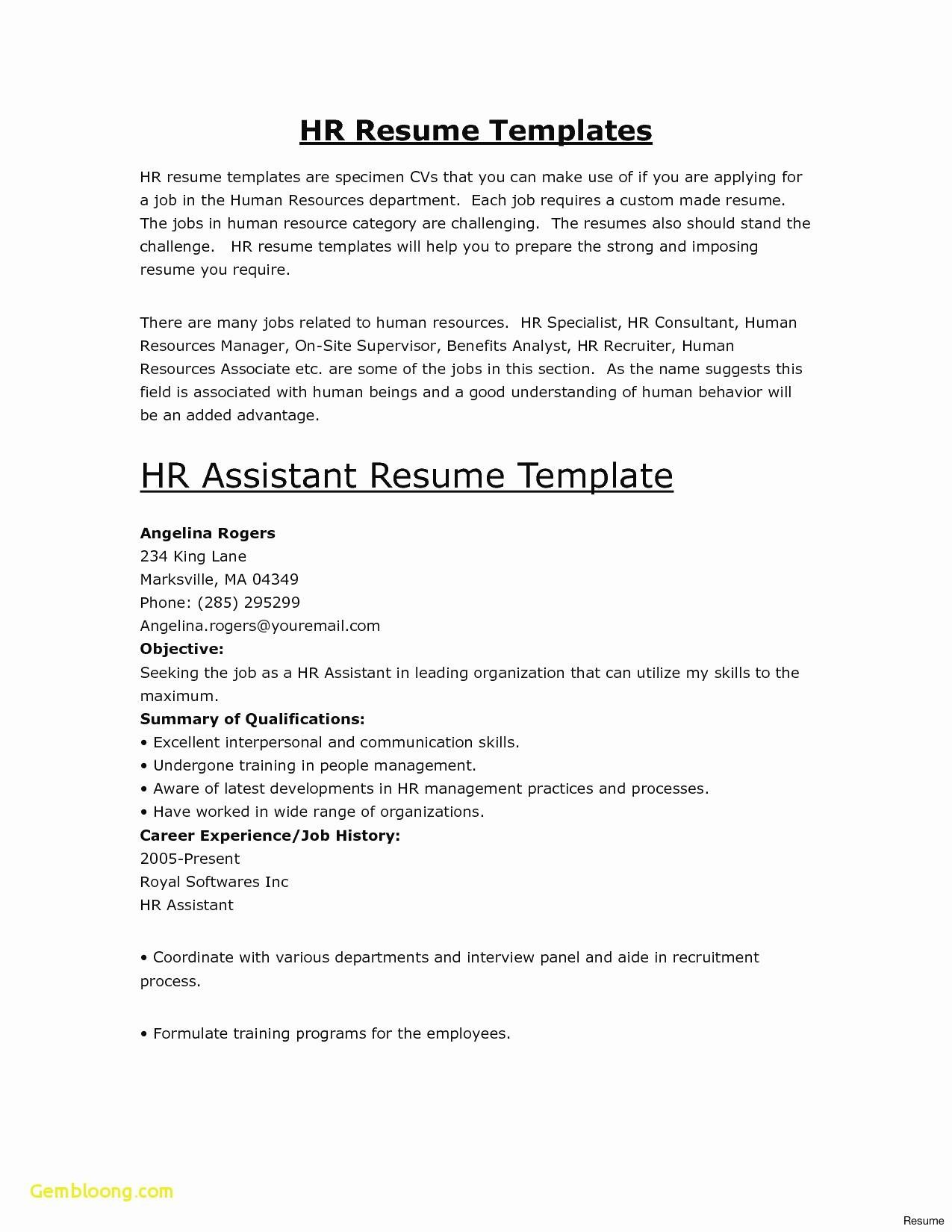 Cv Template For Retail Assistant Manager