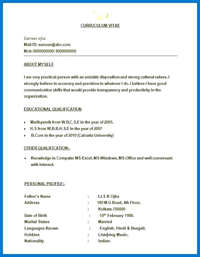Cv Template Free Download Word 2017