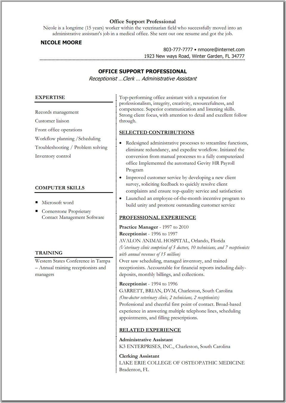 Cv Template Word 2007 Free Download