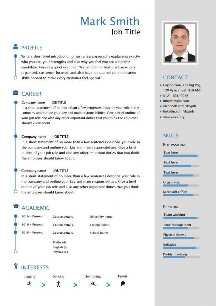 Cv Templates Free Download Word Document Pdf