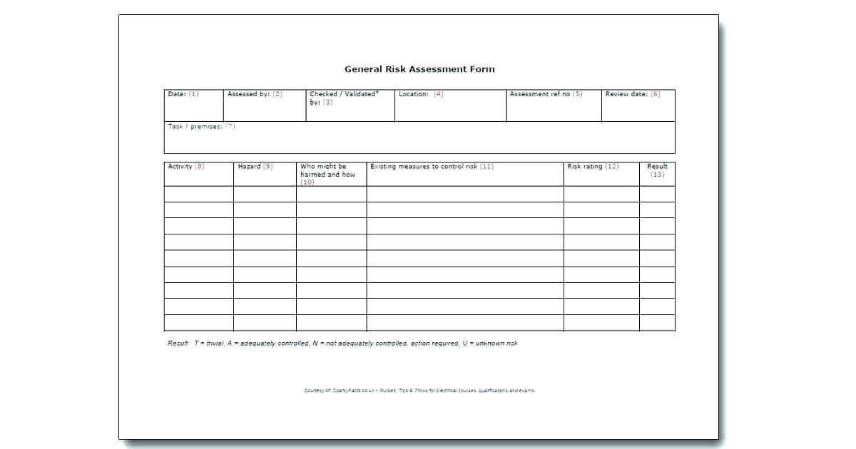 Cyber Security Risk Assessment Form