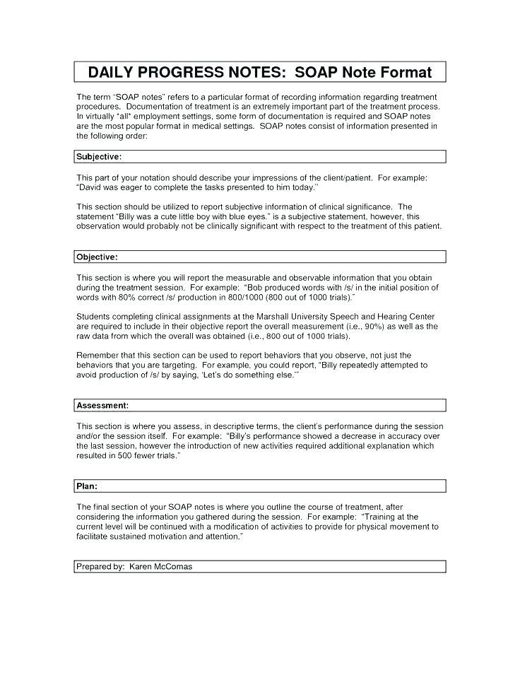 Daily Progress Note Template