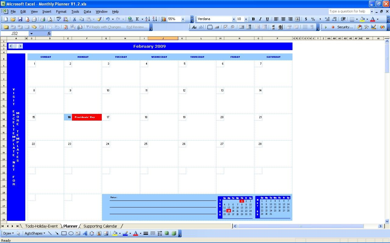 Daily Scheduler Template Excel
