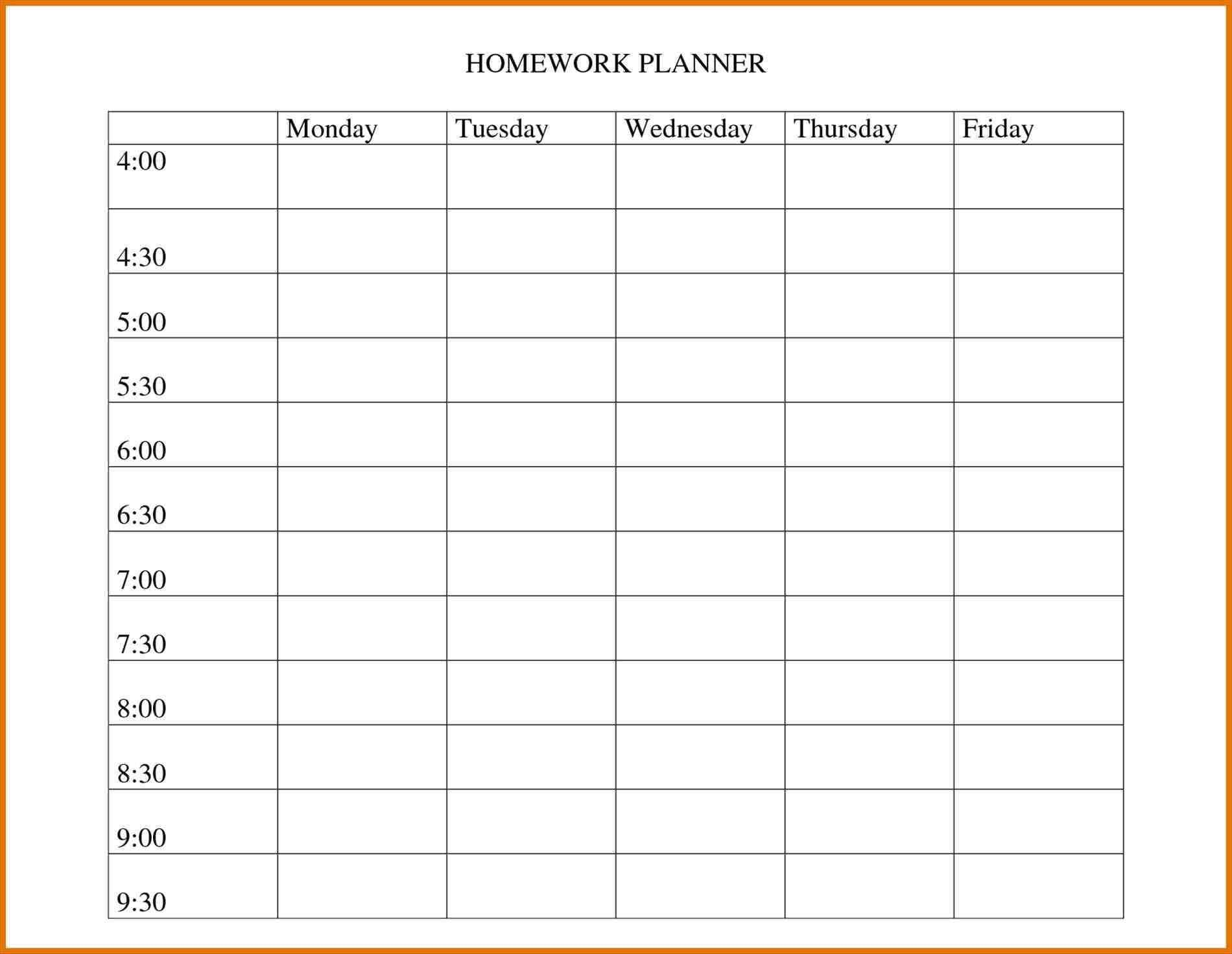 Daily Shift Planner Template