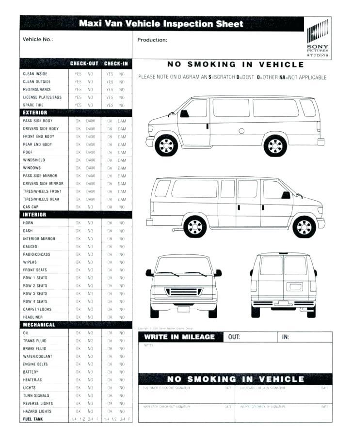 Daily Vehicle Inspection Sheet Template