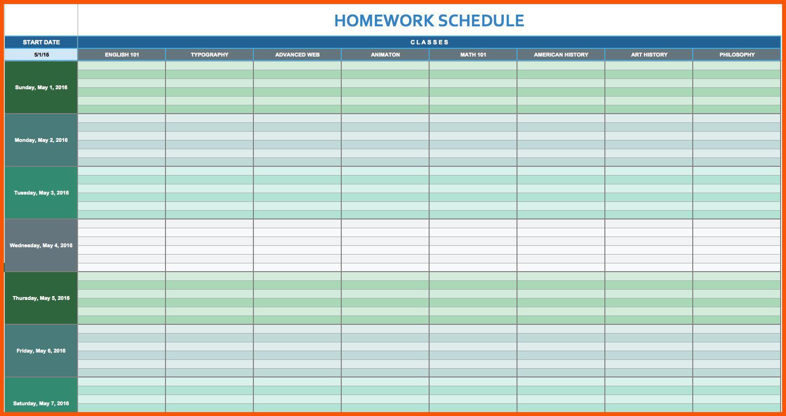 Daily Work Plan Template Pdf