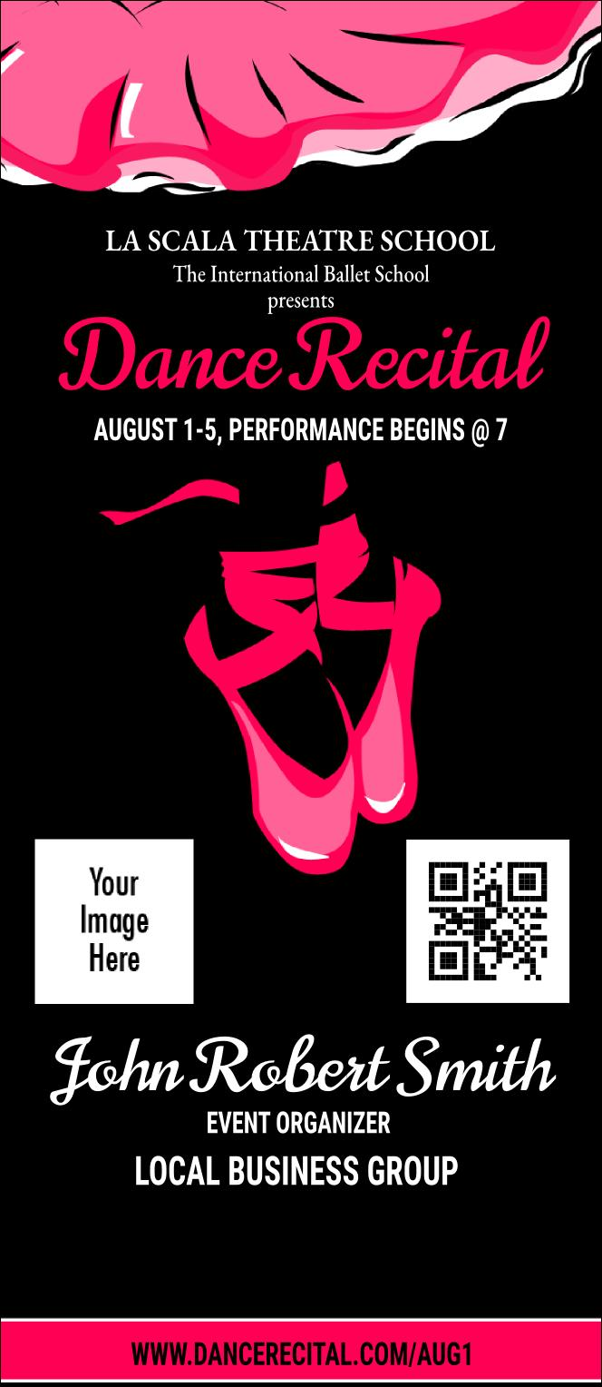 Dance Recital Ticket Template