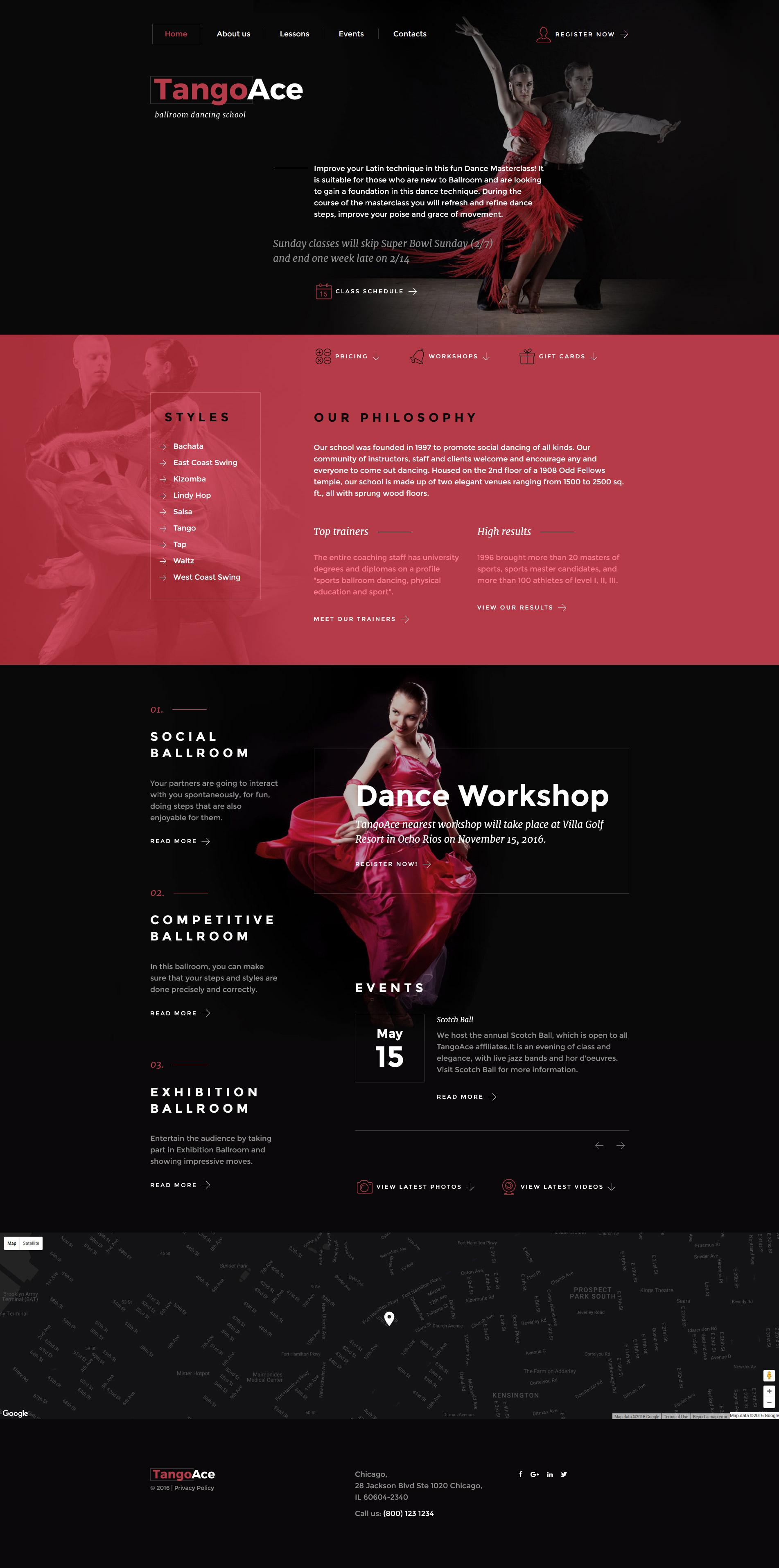 Dance Studio Website Templates