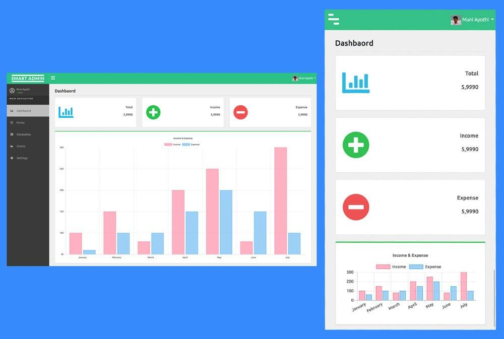 Dashboard Template Html5 Bootstrap Free