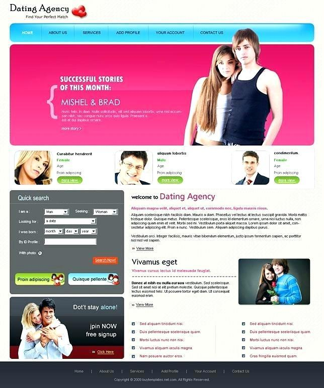 Dating Websites Templates Free Download