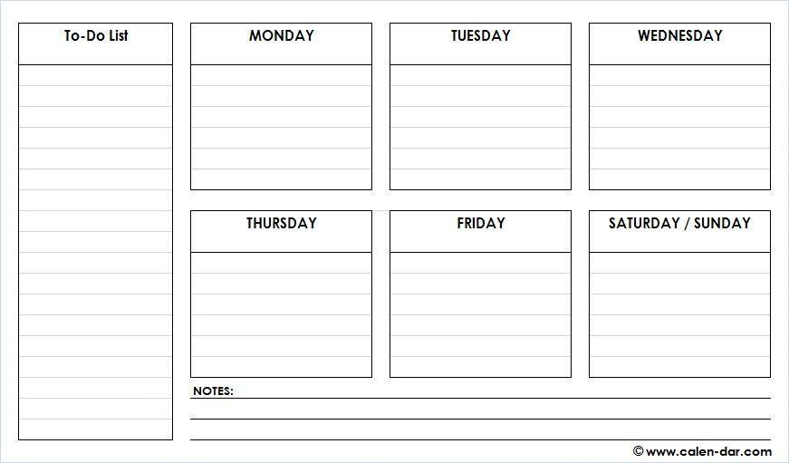 Day Schedule Planner Template