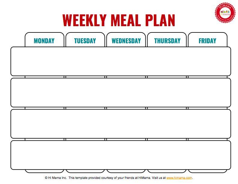 Daycare Calendar Template