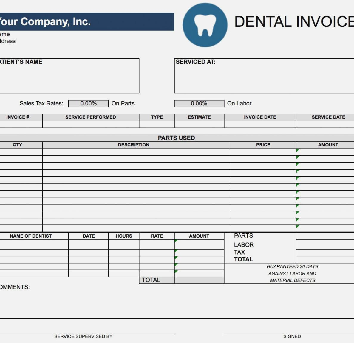 Daycare Invoice Form