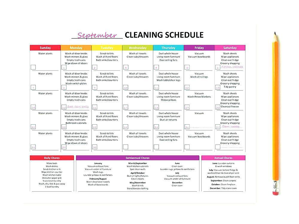 Daycare Routine Template