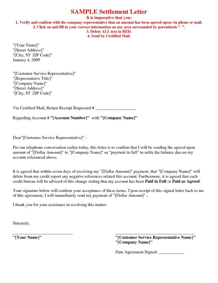 Debt Payment Agreement Letter
