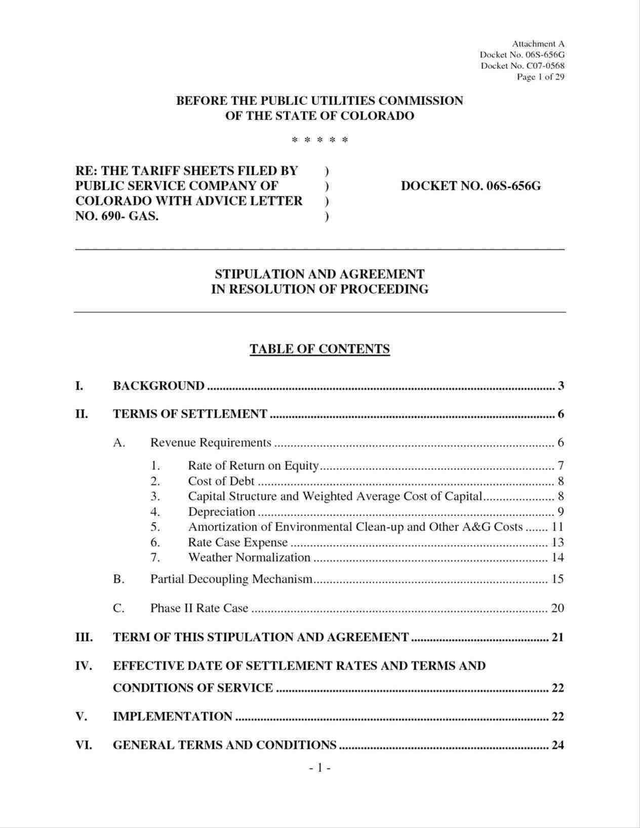 Debt Settlement Agreement Form Free