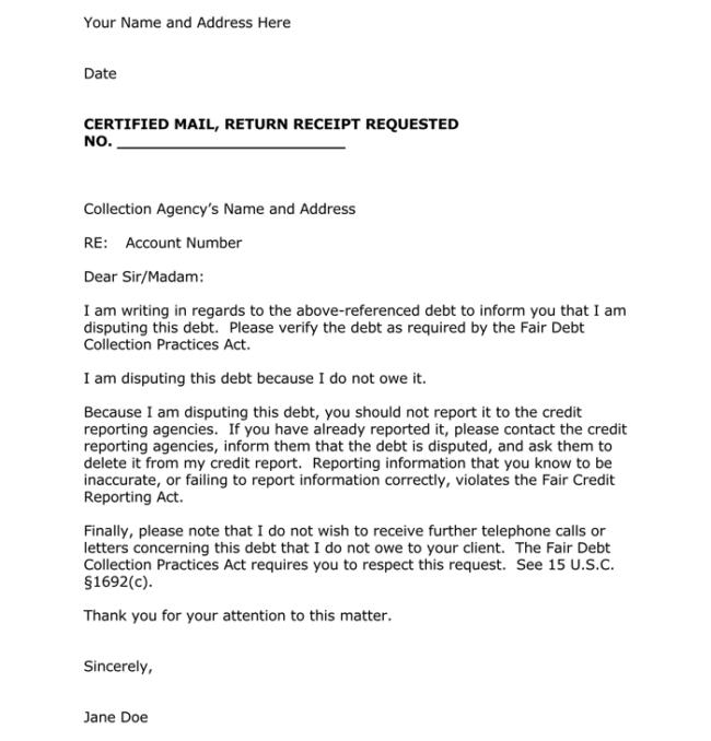 Debtors Collection Letter Template