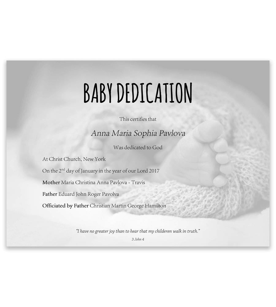 Dedication Invitation Template Free