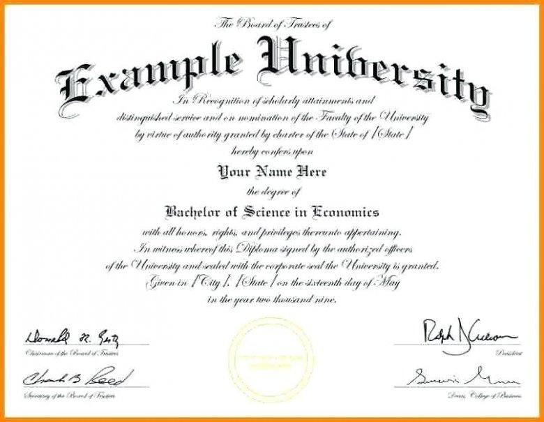 Degree Certificate Templates