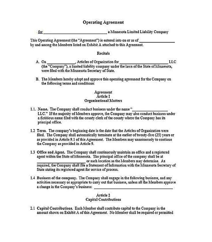 Delaware Llc Agreement Template