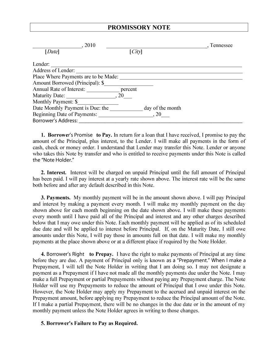 Demand Promissory Note Format Pdf