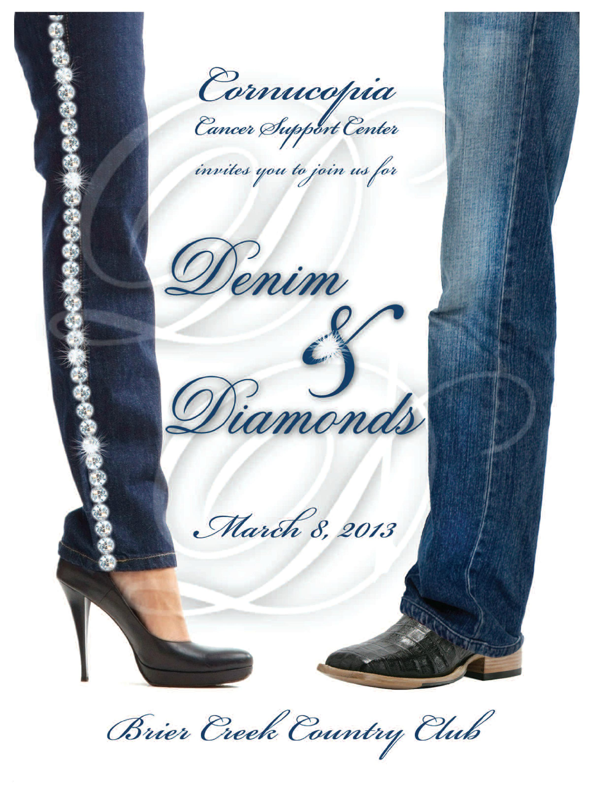 Denim And Diamonds Invitation Templates Free