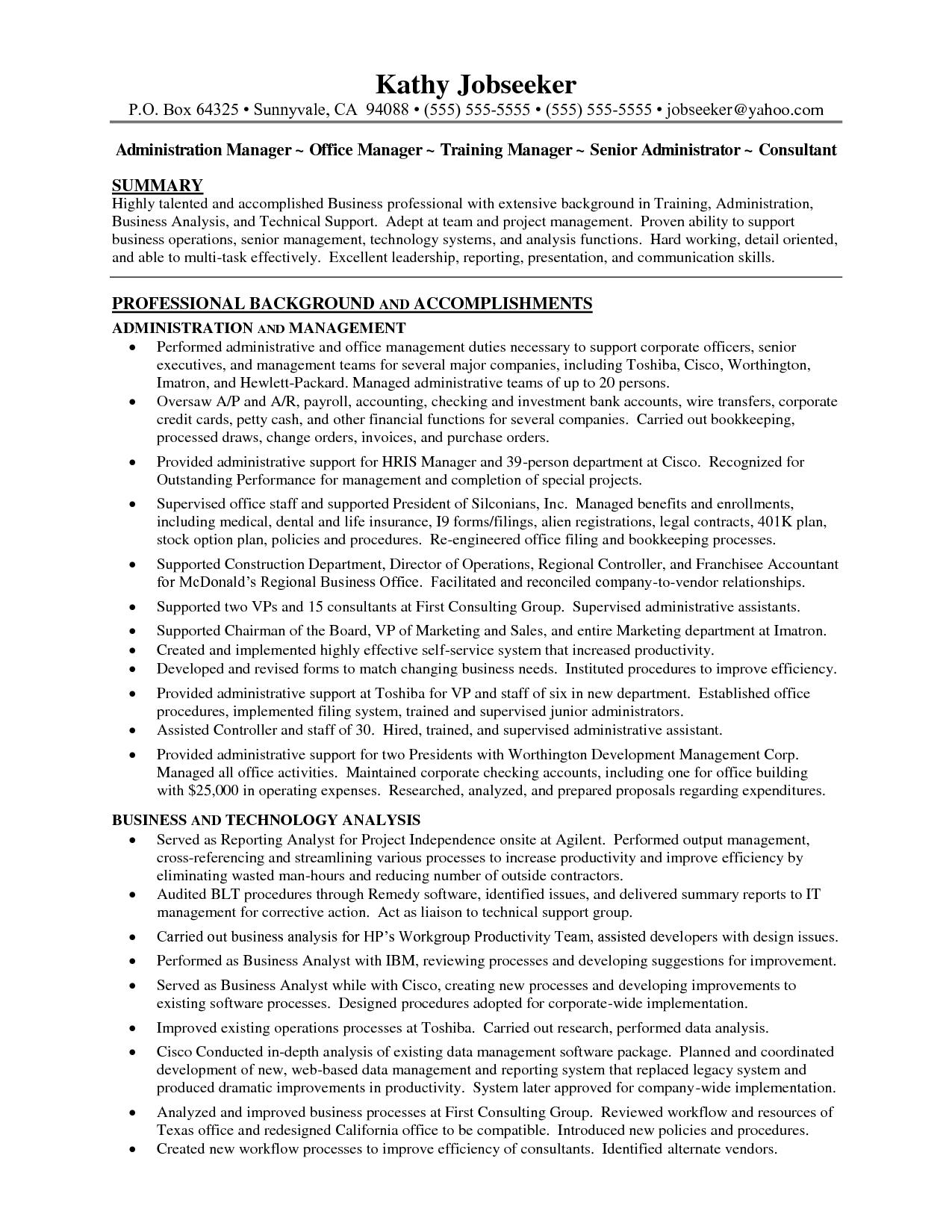 Dental Office Manager Resume Template