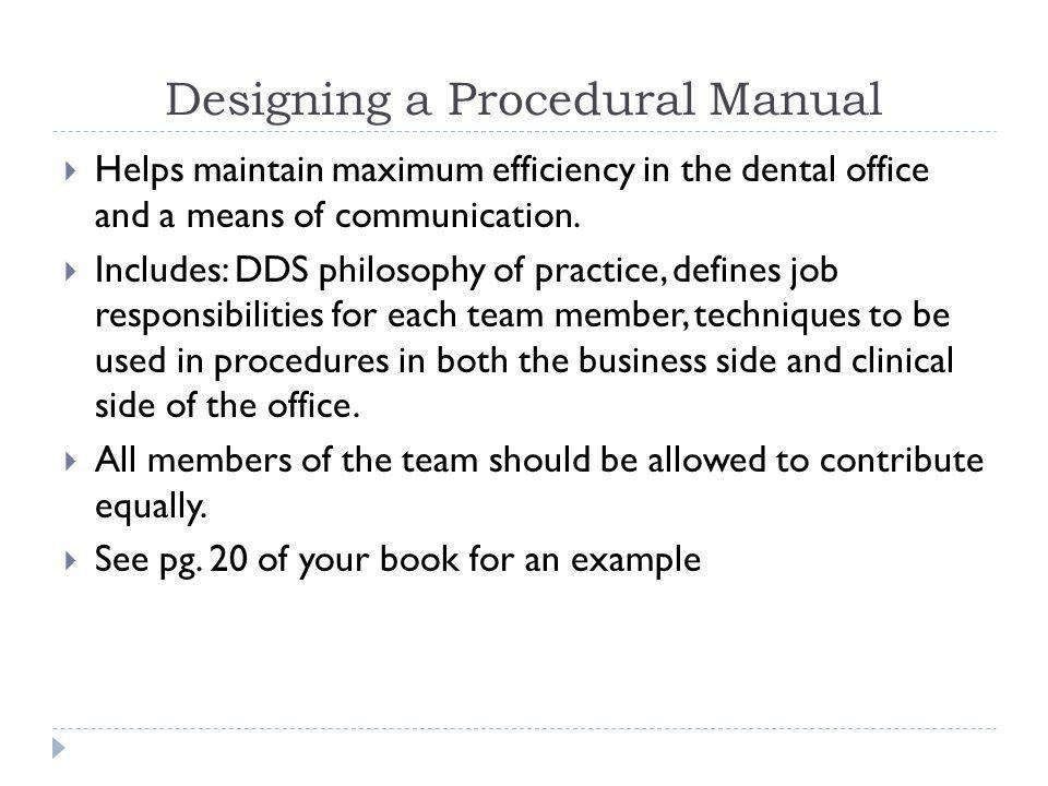 Dental Office Manual Example