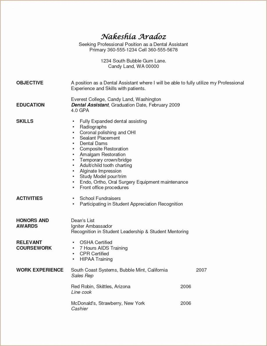 Dental Resume Templates Free