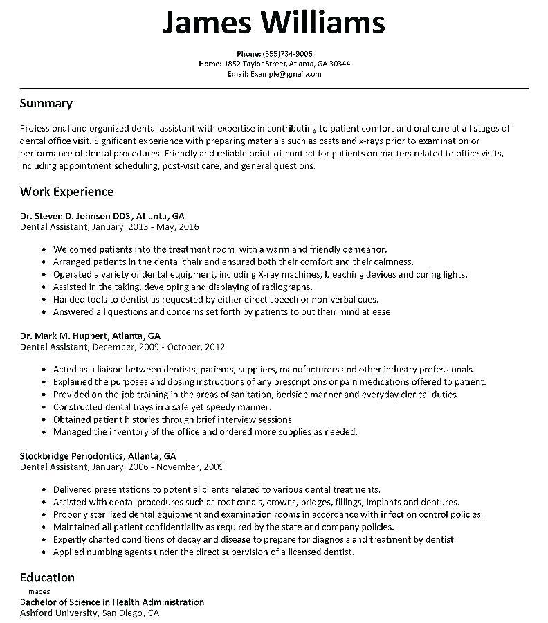 Dentist Cv Template Uk