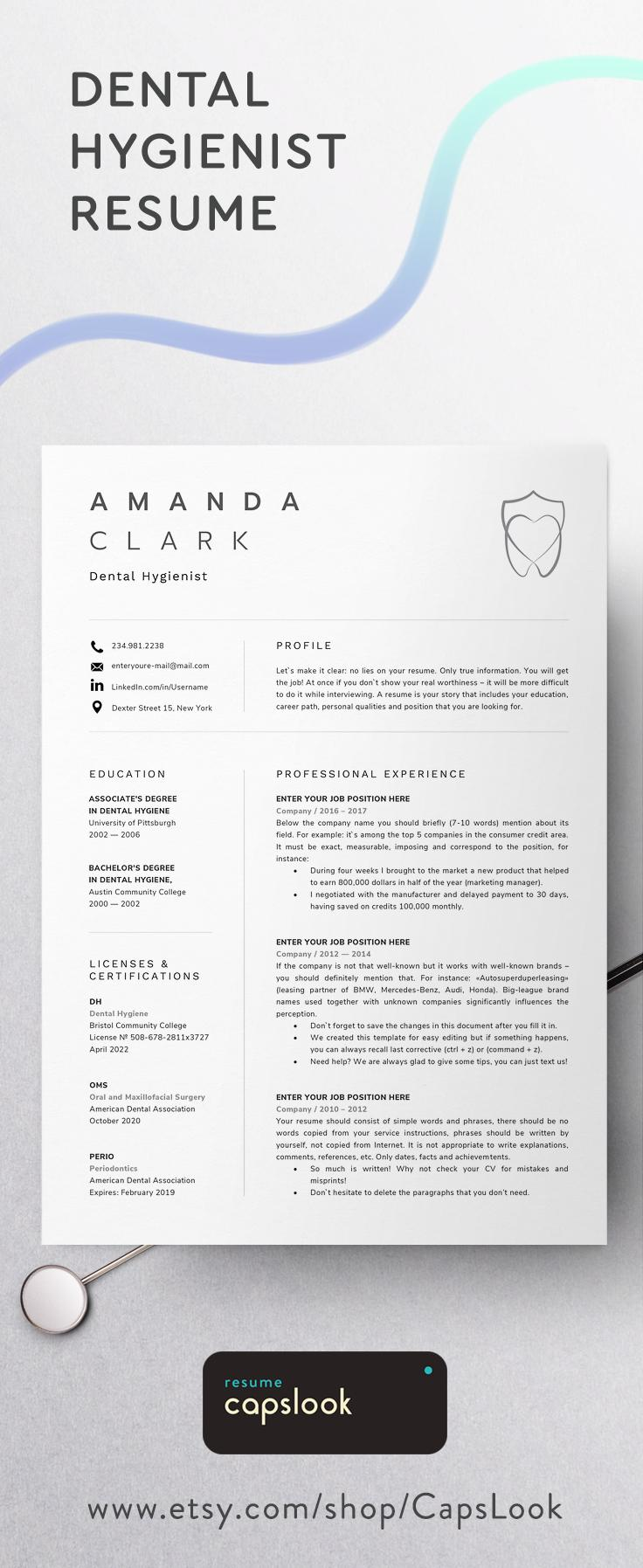 Dentist Cv Template Word