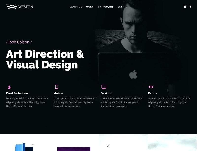 Designer Portfolio Website Templates Free
